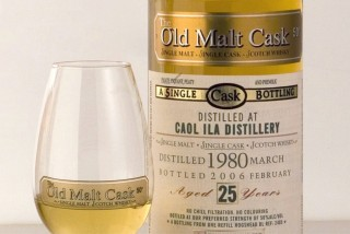 A bottle of the Old Malt Cask, distilled in 1980